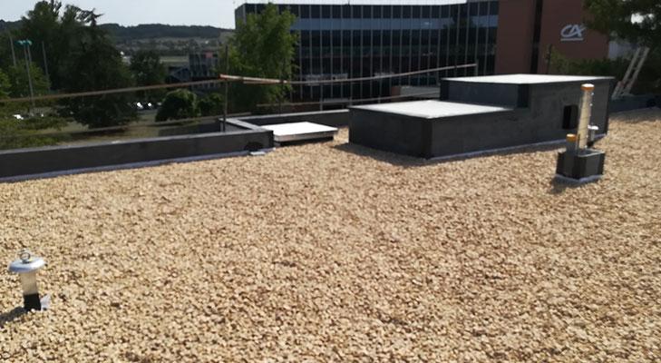 Fin travaux étanchéité toiture