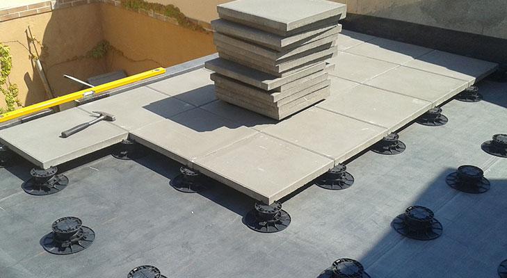 Pose dalle toit terrasse