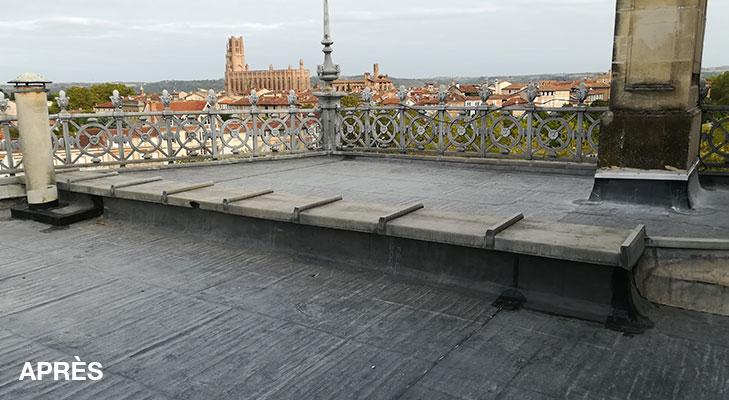Couverture caisse épargne Albi après travaux