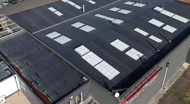 Étanchéité toiture bâtiment industriel